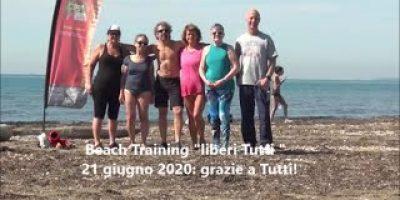 Beach training liberi tutti 21 giugno 2020